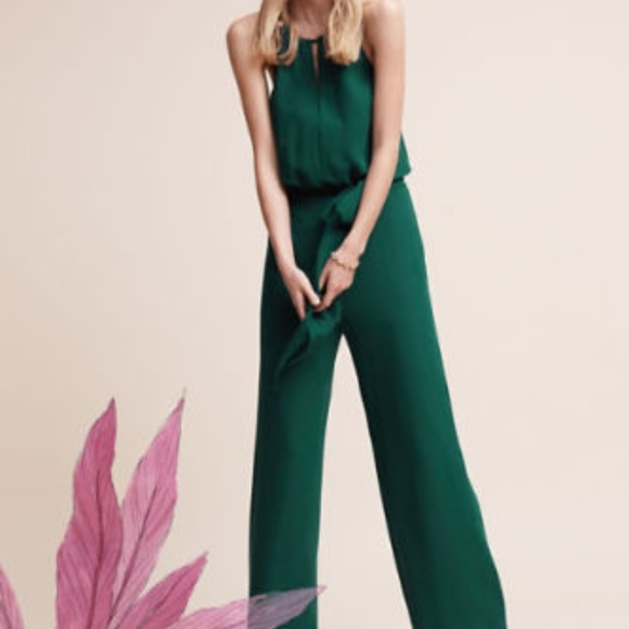 Donna Morgan Pants Bhldn Jackie Jumpsuit Wedding Chiffon Poshmark